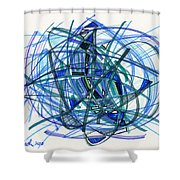 2010 Abstract Drawing 22 Shower Curtain