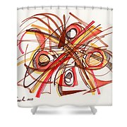 2010 Abstract Drawing 23 Shower Curtain