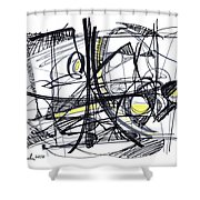 2010 Abstract Drawing 27 Shower Curtain