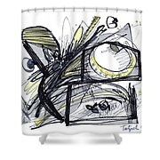 2010 Abstract Drawing 28 Shower Curtain
