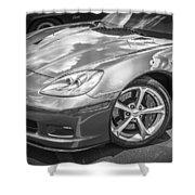 2010 Chevy Corvette Grand Sport Bw Shower Curtain