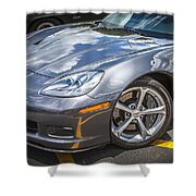2010 Chevy Corvette Grand Sport Hdr Shower Curtain