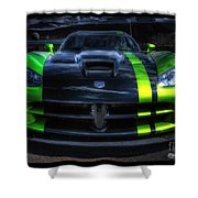 2010 Dodge Viper Acr Shower Curtain