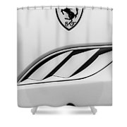 2010 Ferrari California Side Emblem Shower Curtain