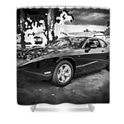 2010 Plymouth Superbird Bw Shower Curtain
