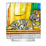 2010 Year Of The Tiger Shower Curtain