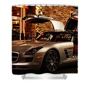 2011 Mercedes-benz Sls Amg Gullwing Shower Curtain