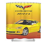 2012 C 6 Corvette Shower Curtain