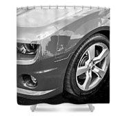 2012 Chevy Camaro Ss Bw Shower Curtain