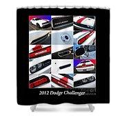 2012 Dodge Challenger-white-1 Shower Curtain
