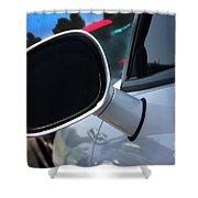 2012 Dodge Challenger White Rear View Mirror - 6023 Shower Curtain