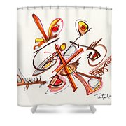 2012 Drawing #23 Shower Curtain