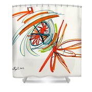 2012 Drawing #24 Shower Curtain