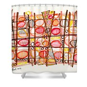 2012 Drawing #32 Shower Curtain