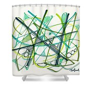 2012 Drawing #34 Shower Curtain