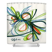 2012 Drawing #35 Shower Curtain