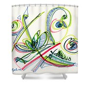 2012 Drawing #36 Shower Curtain
