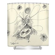 2012 Drawing 37 Shower Curtain