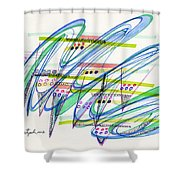 2012 Drawing #9 Shower Curtain
