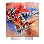 2012 Heptathlon Olympics Gold Medal Jessica Ennis  Shower Curtain