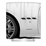 2012 Maserati Gran Turismo S B And W Shower Curtain