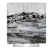 2013-008 Arlington Memorial Bridge And Potomac River - Silver And White Shower Curtain
