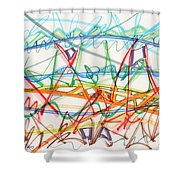 2013 Abstract Drawing #7 Shower Curtain