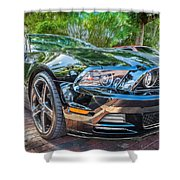 2013 Ford Shelby Mustang Gt 5.0 Convertible Painted   Shower Curtain
