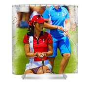 2013 Solheim Cup - Michelle Wie Shower Curtain