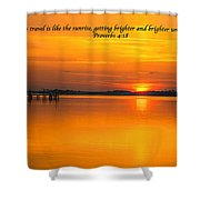 2014 02 25 03 Proverbs 4 18 Shower Curtain