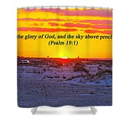 2014 03 12 02 A Psalm 19 1 Shower Curtain