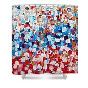 2014 31 Russian Flag Shower Curtain