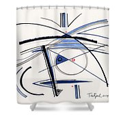 2014 Abstract Drawing #1 Shower Curtain