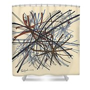 2014 Abstract Drawing #8 Shower Curtain