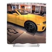 2014 Camaro Convertible Shower Curtain