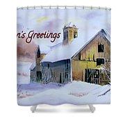 2014 Christmas Card Shower Curtain