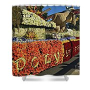 2015 Cal Poly Rose Parade Float 15rp052 Shower Curtain