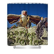 2015 Cal Poly Rose Parade Float 15rp055 Shower Curtain