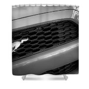 2015 Ford Mustang Prototype Grille Emblem -0092bw Shower Curtain