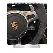 2015 Porche Boxster Gts Wheel Shower Curtain