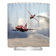 2015 Red Arrows Pair Shower Curtain