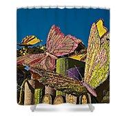 2015 Rose Parade Float Of Butterflies 15rp045 Shower Curtain