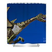 2015 Rose Parade Float Showing A Dragon 15rp039 Shower Curtain