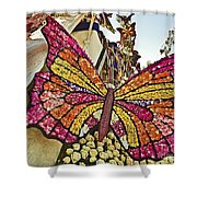 2015 Rose Parade Float With Butterflies 15rp043 Shower Curtain