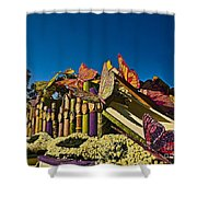 2015 Rose Parade Float With Butterflies 15rp044 Shower Curtain