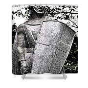 20th Century Gothic Revival Knight Statue Chicago Usa Shower Curtain