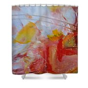 Abstract Exhibit Shower Curtain