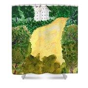 21 Room House On Golden Lake Dream Shower Curtain