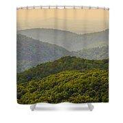 Scenery Around Lake Jocasse Gorge Shower Curtain