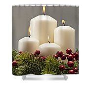 Advent Wreath Shower Curtain